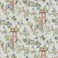 Guava Mist Asian Drapery and Upholstery Fabric by Stroheim