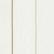 White/Bronze/Beige Stripes Drapery and Upholstery Fabric by Kravet