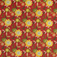 Sangria Floral Drapery and Upholstery Fabric by Trend