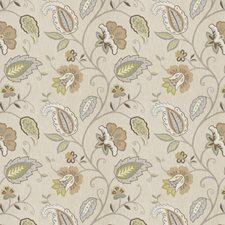 Blue Ash Floral Drapery and Upholstery Fabric by Fabricut