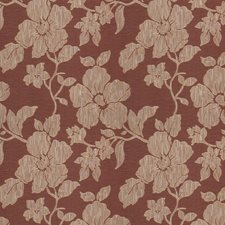 Regal Red Floral Drapery and Upholstery Fabric by Trend