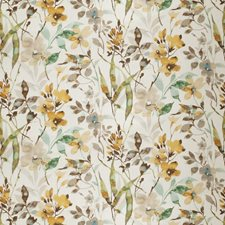 Honey Floral Drapery and Upholstery Fabric by Vervain