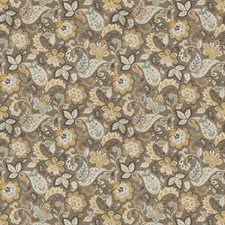 Spa Floral Drapery and Upholstery Fabric by Fabricut