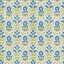 Turquoise Lime Global Drapery and Upholstery Fabric by Stroheim