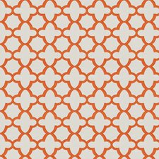 Orange Geometric Drapery and Upholstery Fabric by Stroheim