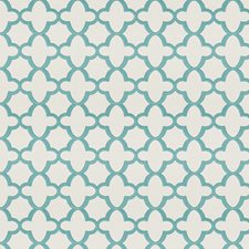 Turquoise Geometric Drapery and Upholstery Fabric by Stroheim