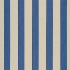 Mediterranean/Canvas Block Stripe Drapery and Upholstery Fabric by Sunbrella