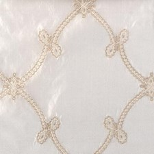 Natural/Beige Embroidery Drapery and Upholstery Fabric by Highland Court