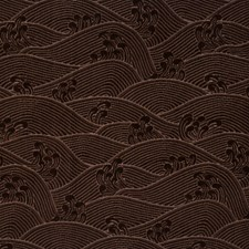 Walnut Asian Drapery and Upholstery Fabric by Vervain