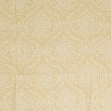 Gold Damask Drapery and Upholstery Fabric by Vervain
