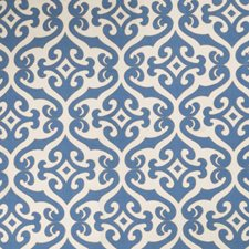 Blue Geometric Drapery and Upholstery Fabric by Vervain