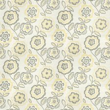 Citrine Floral Drapery and Upholstery Fabric by Vervain