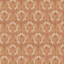 Persimmon Damask Drapery and Upholstery Fabric by Trend