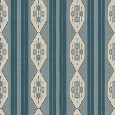 Teal Global Drapery and Upholstery Fabric by Vervain