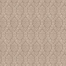 Taupe Damask Drapery and Upholstery Fabric by Fabricut