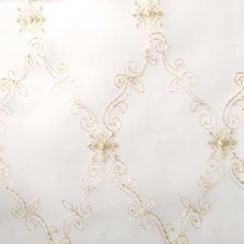 Natural/gold Drapery and Upholstery Fabric by Duralee
