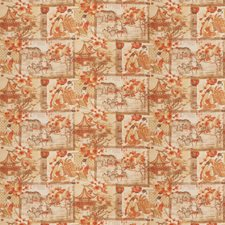 Persimmon Asian Drapery and Upholstery Fabric by Fabricut