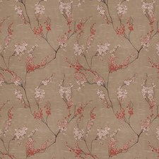 Cherry Floral Drapery and Upholstery Fabric by Fabricut