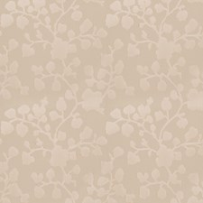 Ivory Floral Drapery and Upholstery Fabric by Trend