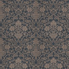 Sapphire Damask Drapery and Upholstery Fabric by Stroheim