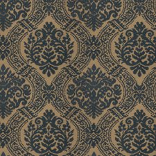 Azure Embroidery Drapery and Upholstery Fabric by Stroheim