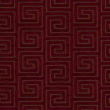 Chili Geometric Drapery and Upholstery Fabric by Fabricut
