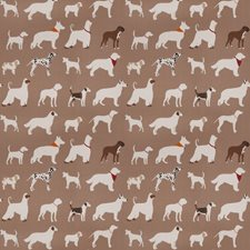 Brown Animal Drapery and Upholstery Fabric by Trend