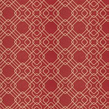 Cranberry Geometric Drapery and Upholstery Fabric by Fabricut