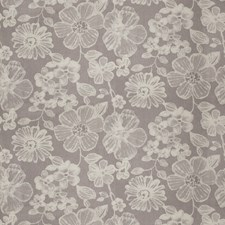 Gray Floral Drapery and Upholstery Fabric by Vervain