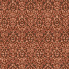 Exotic Red Damask Drapery and Upholstery Fabric by Fabricut