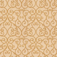 Antique Gold Scrollwork Drapery and Upholstery Fabric by Trend