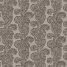 Silver Paisley Drapery and Upholstery Fabric by Trend