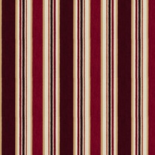 Claret Stripes Drapery and Upholstery Fabric by Fabricut