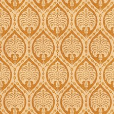 Saffron Medallion Drapery and Upholstery Fabric by Vervain