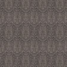Charcoal Paisley Drapery and Upholstery Fabric by Stroheim