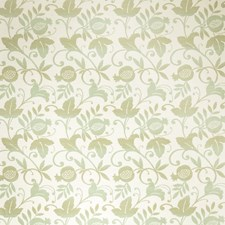Spearmint Floral Drapery and Upholstery Fabric by Stroheim
