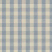 Aqua Check Drapery and Upholstery Fabric by Stroheim