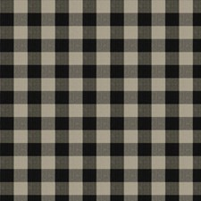 Coal Check Drapery and Upholstery Fabric by Stroheim