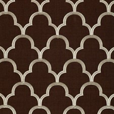 Espresso Drapery and Upholstery Fabric by Schumacher