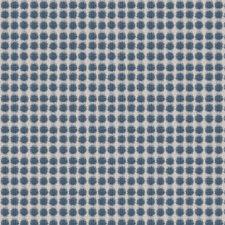 Cabana Blue Geometric Drapery and Upholstery Fabric by Fabricut