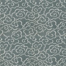 Blu Du Ceil Global Drapery and Upholstery Fabric by S. Harris
