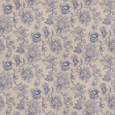 Delft Floral Drapery and Upholstery Fabric by Trend