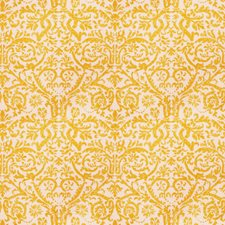 Yellow Print Pattern Drapery and Upholstery Fabric by Vervain