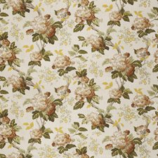Chestnut Floral Drapery and Upholstery Fabric by Fabricut
