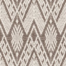 Ash Brown Diamond Drapery and Upholstery Fabric by Stroheim