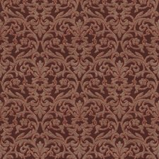 Autumn Red Damask Drapery and Upholstery Fabric by Vervain