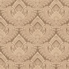 Truffle Damask Drapery and Upholstery Fabric by Trend