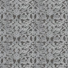 Grey Damask Drapery and Upholstery Fabric by Fabricut