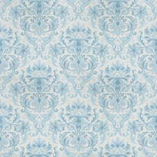 Aqua Print Pattern Drapery and Upholstery Fabric by Vervain
