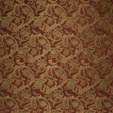 Brick Jacobean Drapery and Upholstery Fabric by Trend